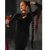 Rapunzel Braid Extra black wine-red, special offer