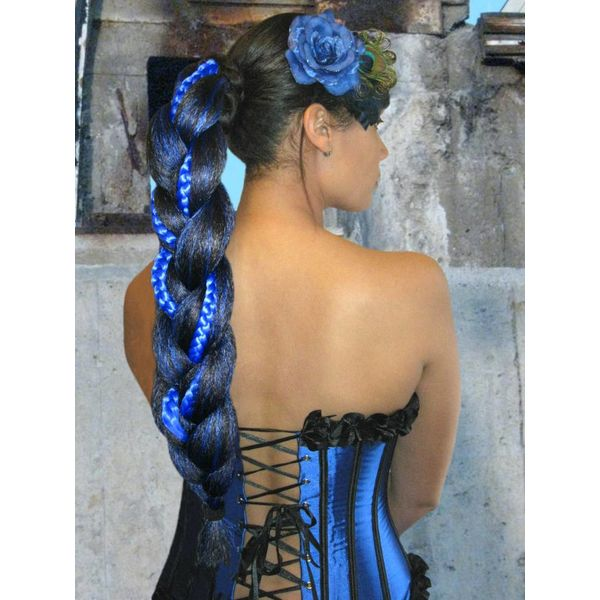 Supersize Fantasy Braid Special, black-blue