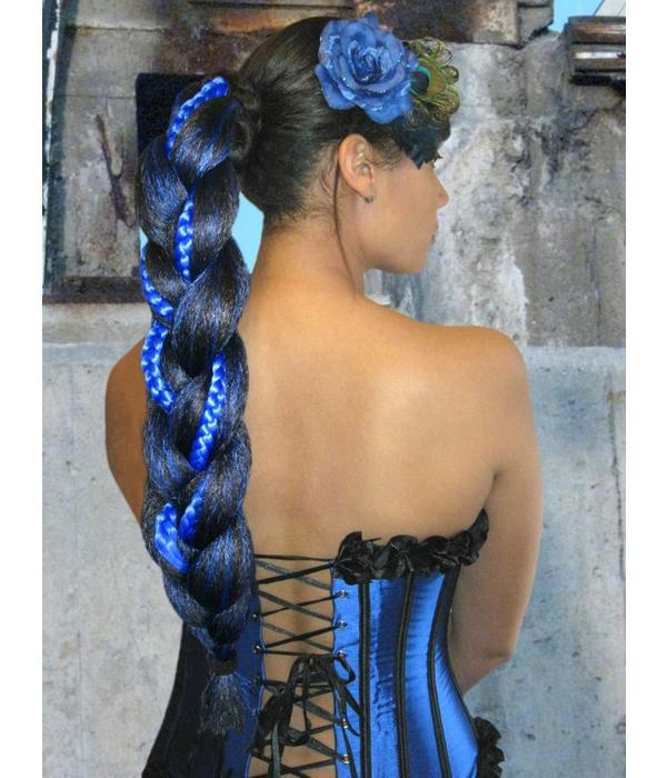 XL Fantasy Zopf Spezial, schwarz-blau