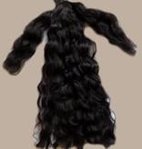Haarteil Locken Farbe 1 tiefschwarz