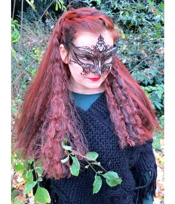 Gothic Haarteil M wild style - schwarz weiß