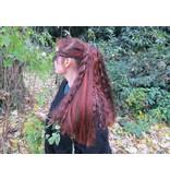 Goth Hair Fall M wild style - black white