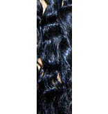 Curly Hair Piece M - deepest black