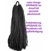 Color customization for ponytail dread falls