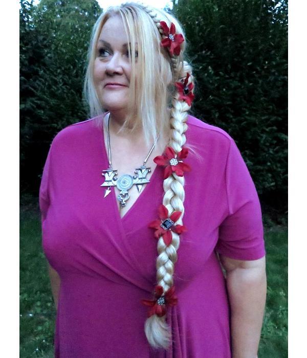 Braid Wonder - paranda style hair filler, wavy hair