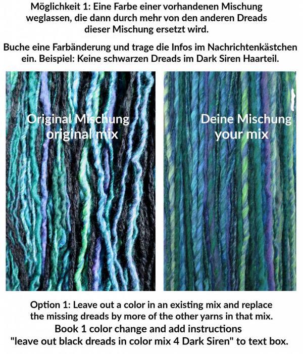 Farbmix-Anpassung für Clip-In Dreads