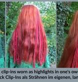 Clip-In Dreads Schneeleopard, Blondmix
