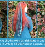 Feine blond-braune Dreads, 5 Clips