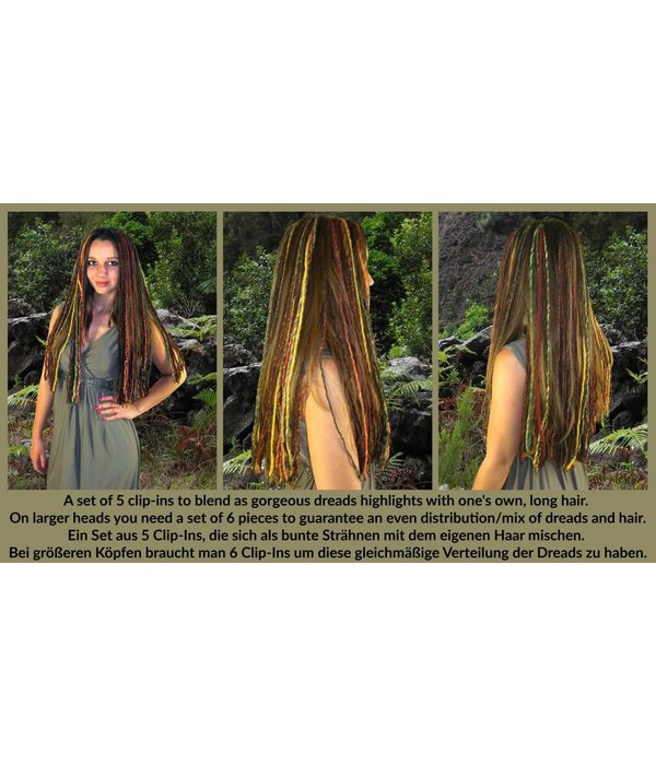 Feine blonde Clip-In Dreads