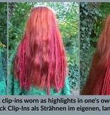 Fine blonde clip-in dreads