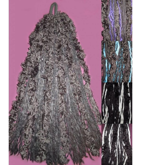 Gothic Dreads with fake fur