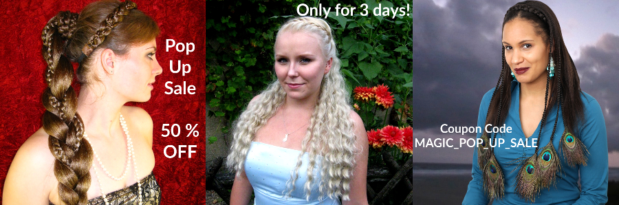 50 % off custom color hair pieces for 30 days!