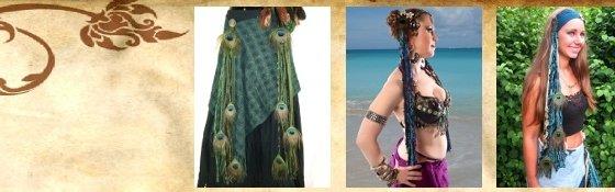 Hip & Hair Tassel Clips/ Peacock Yarn Falls