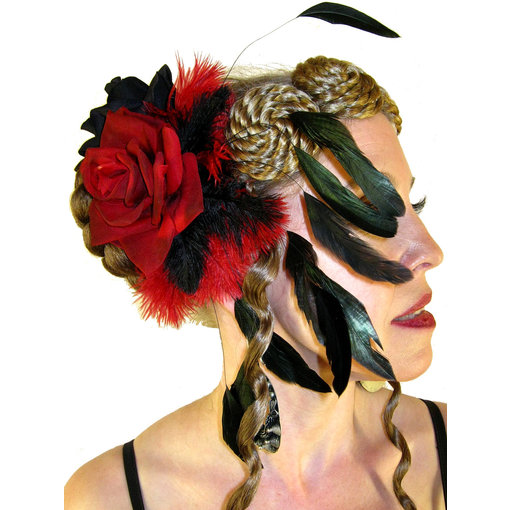 Fascinator Red Passion Burleske
