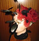Feder Fascinator Red Passion Burleske
