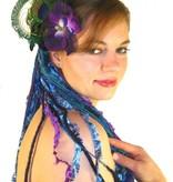 Pfauenfeder Fascinator Purple Passion Pfau