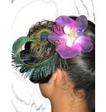 Peacock Feather Fascinator Purple Passion Peacock