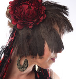 Feather Fascinator Red Passion Nostalgia