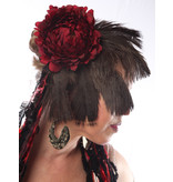 Feder-Fascinator Red Passion Nostalgia