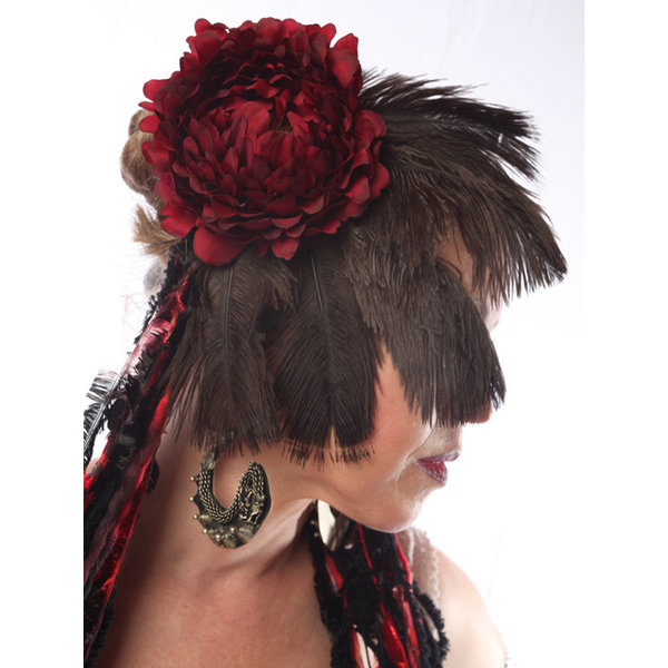 Fascinator Red Passion Nostalgia