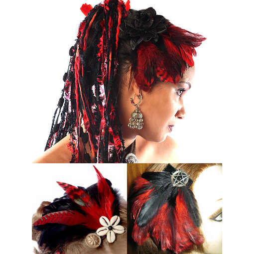 Fascinator Red Passion