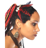 Feather Fascinator Red Passion