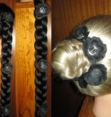 Black Tribal Flowers Set, 2, 3, 4, 5 or 6 pcs