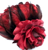 Feder Fascinator Red Passion