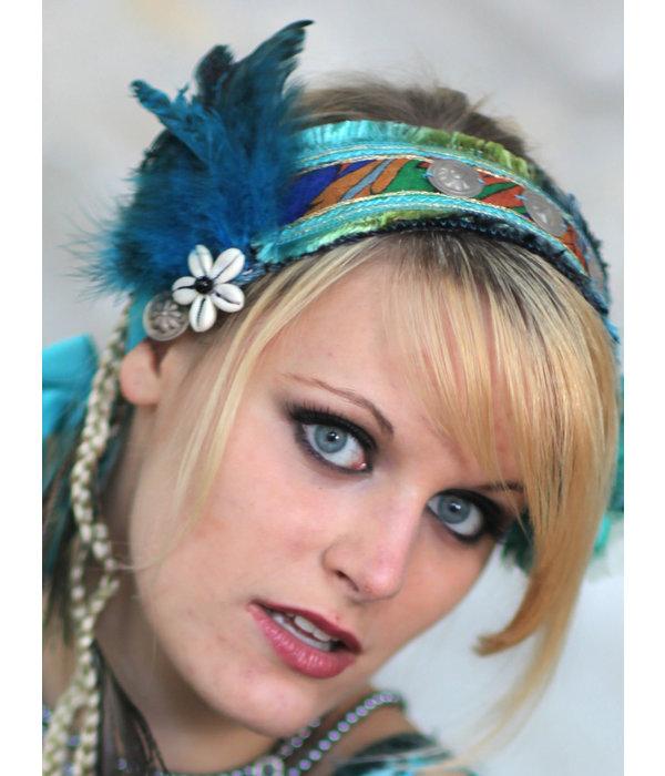 Feather Fascinator Blue Mermaid