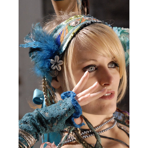 Feder Fascinator Blue Mermaid