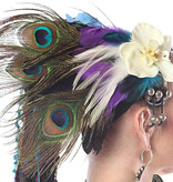 Peacock Feather Statement Headpiece Paradise
