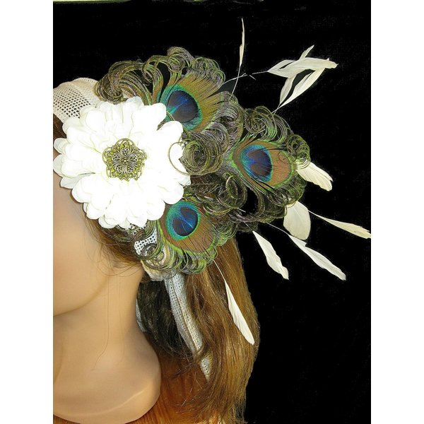 Headpiece Flora Wedding Peacock