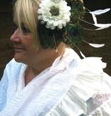 Pfauenfeder Headpiece Flora Hochzeit Pfau