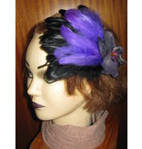 Gothic Feather Fascinator Purple Passion