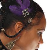 Gothic Feder-Fascinator Purple Passion