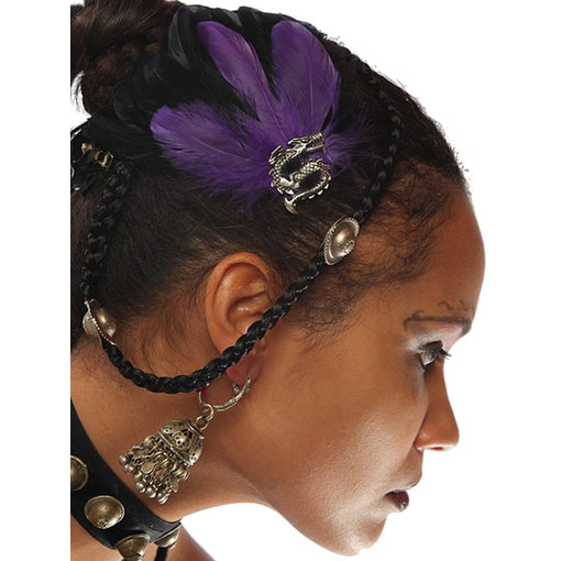 Gothic Fascinator Purple Passion