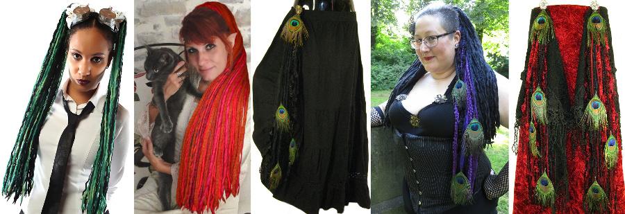 Dreadlocks und Steampunk & Fantasy Kostümaccessoires