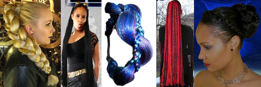 Gothic Haarteile und Dreads stark reduziert in der Schnäppchenecke!