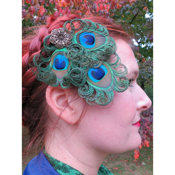 Boho Peacock Headpiece