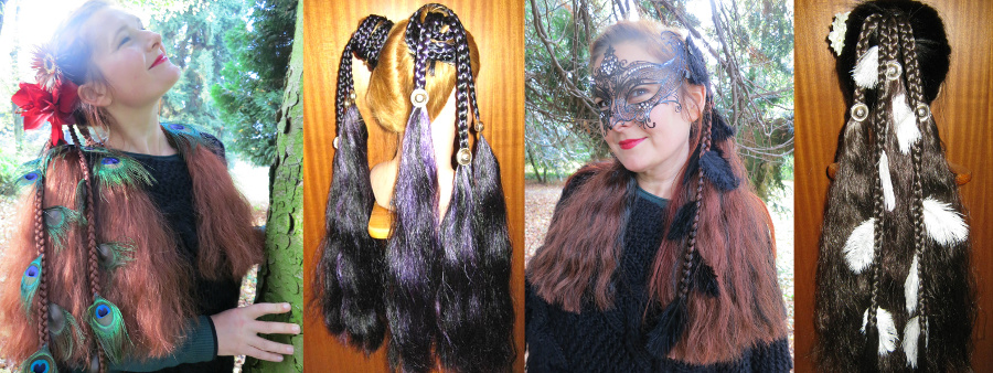 Gothic fantasy hair extensions - our special magician styles!