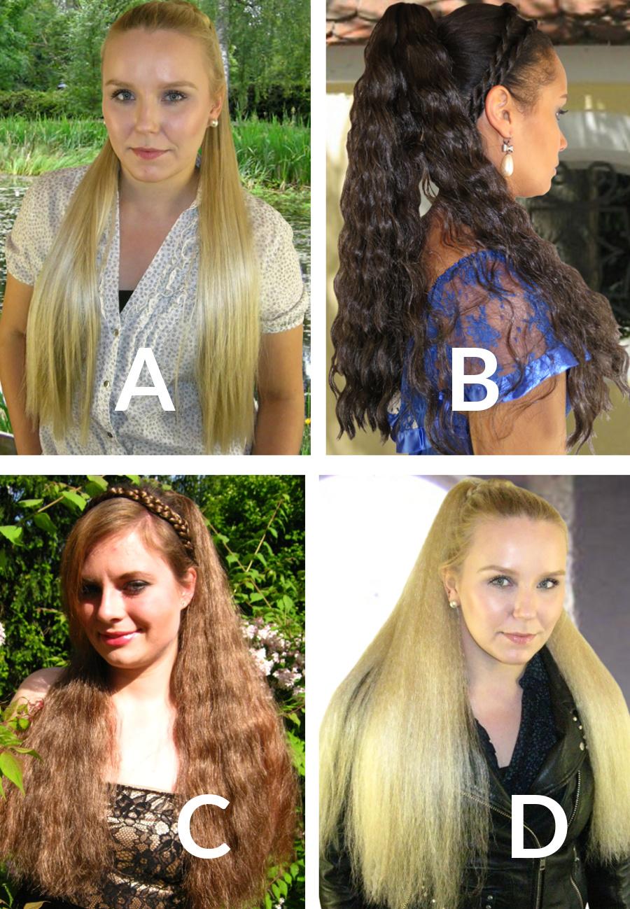 Welches Haarteil macht aufgesteckt Dutt 1?