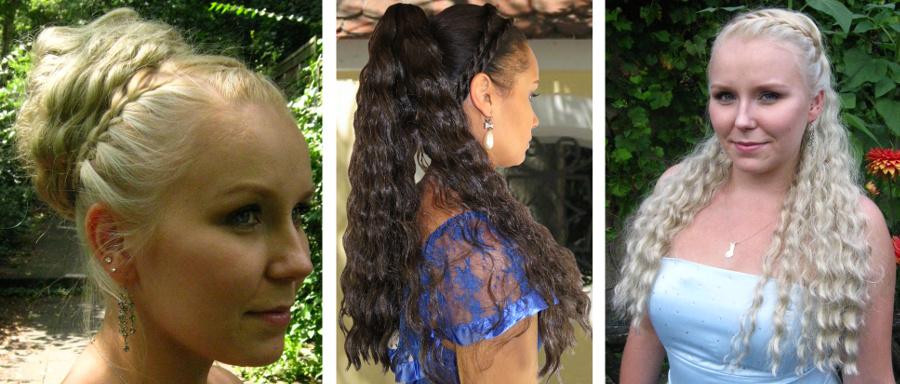 Auflösung Dutt 1: Haarteil B - Naturlocken