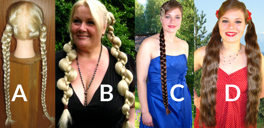 Welches Haarteil ergibt 2 Haarschnecken?