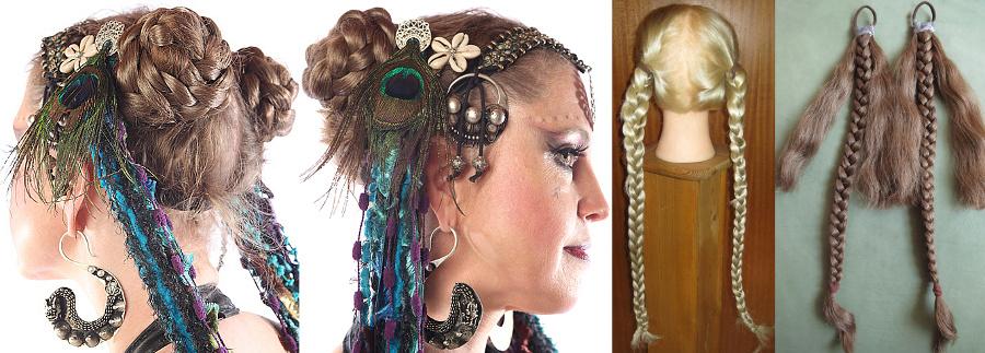 Tribal Haarschnecken leicht gemacht aus 2 geflochtenen Zöpfen!