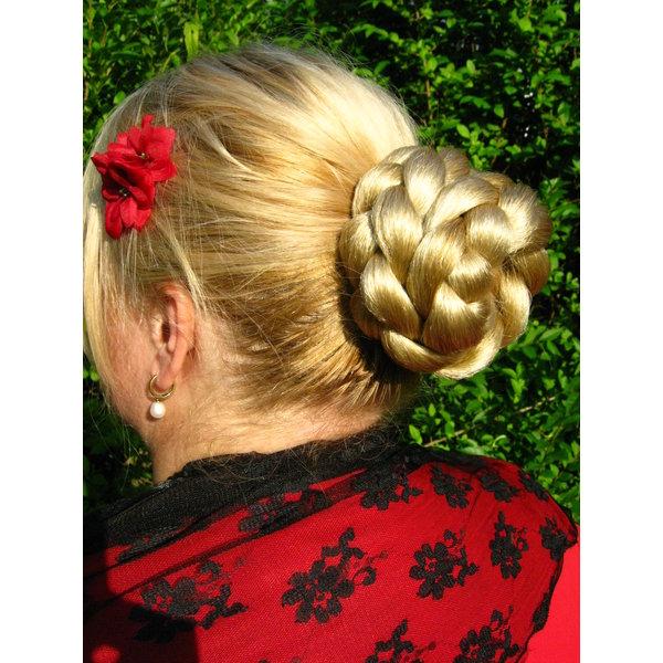 Haarknoten & Zopf S, gekrepptes Haar