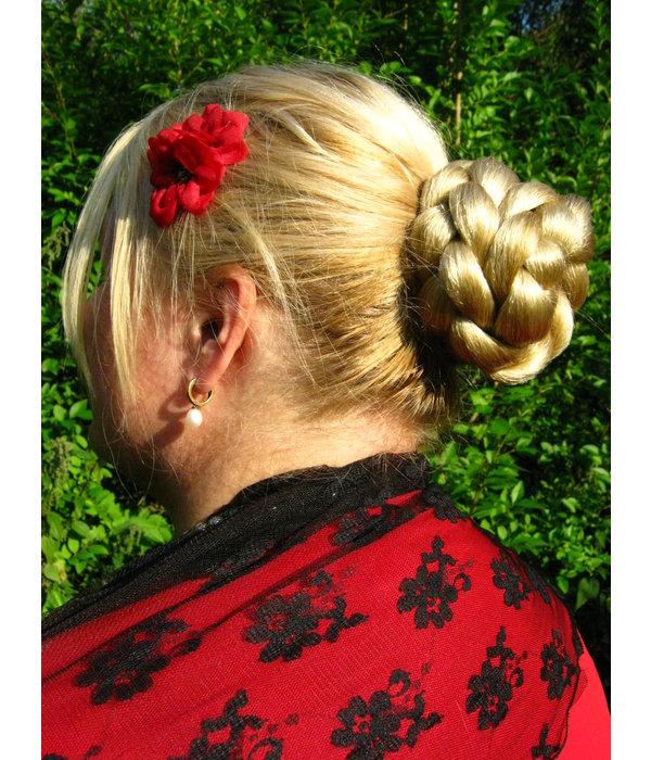 Haarknoten & Zopf Größe S, gekrepptes Haar