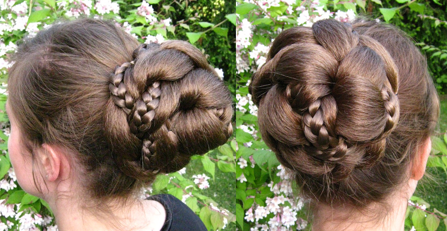 This delicate bun is a pinned-up braid - but which one?