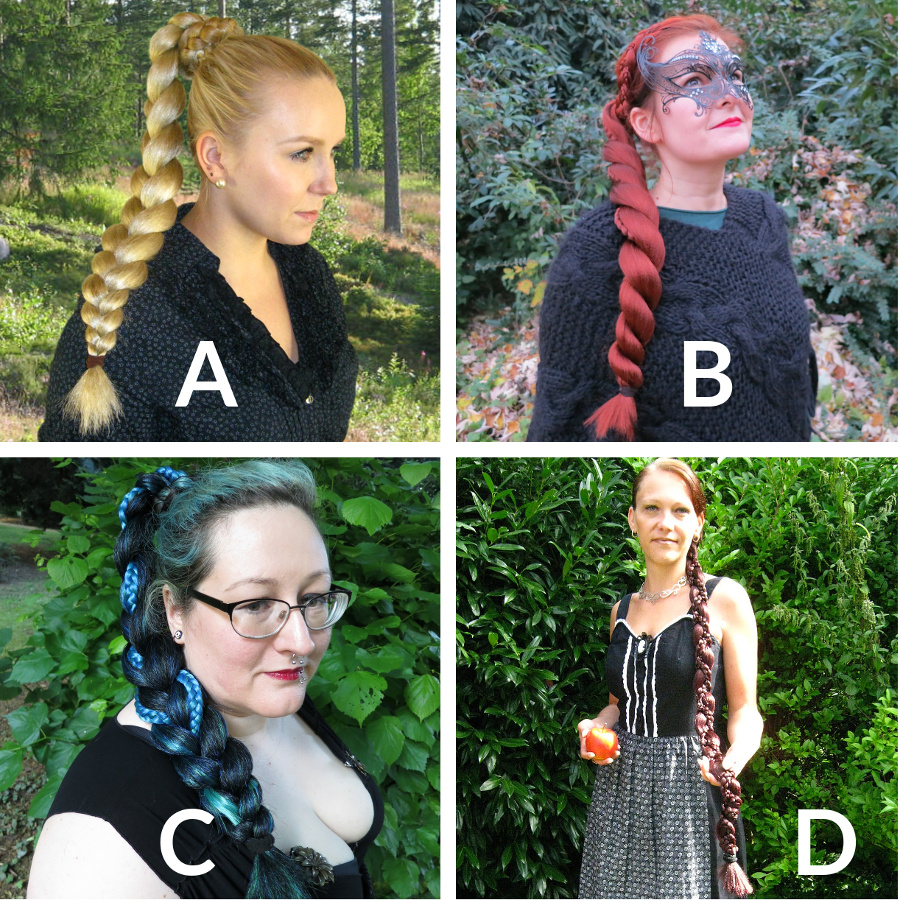 Which braid can be worn as the bun above?