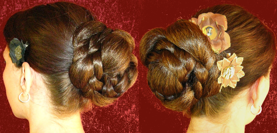Braided chignon - made of just one braid, but which one?