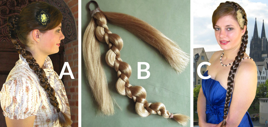 Which braid makes the neat chignon above?